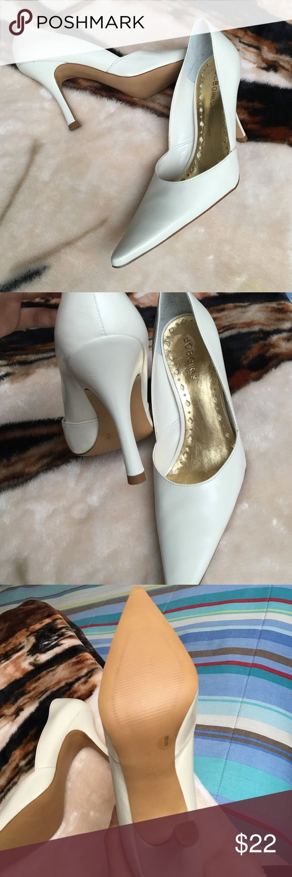 BCBG Girls light cream pumps Good condition and easy to match with outfits BCBGirls Shoes Heels