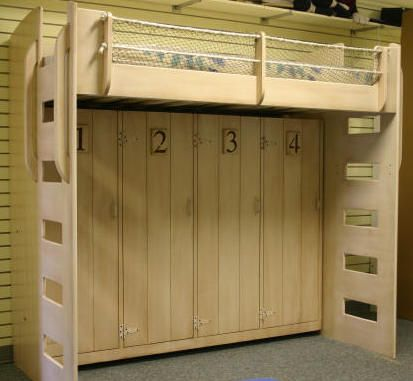 Beach Theme Murphy Bed Loft Top Is Twin Bed Bottom Is A