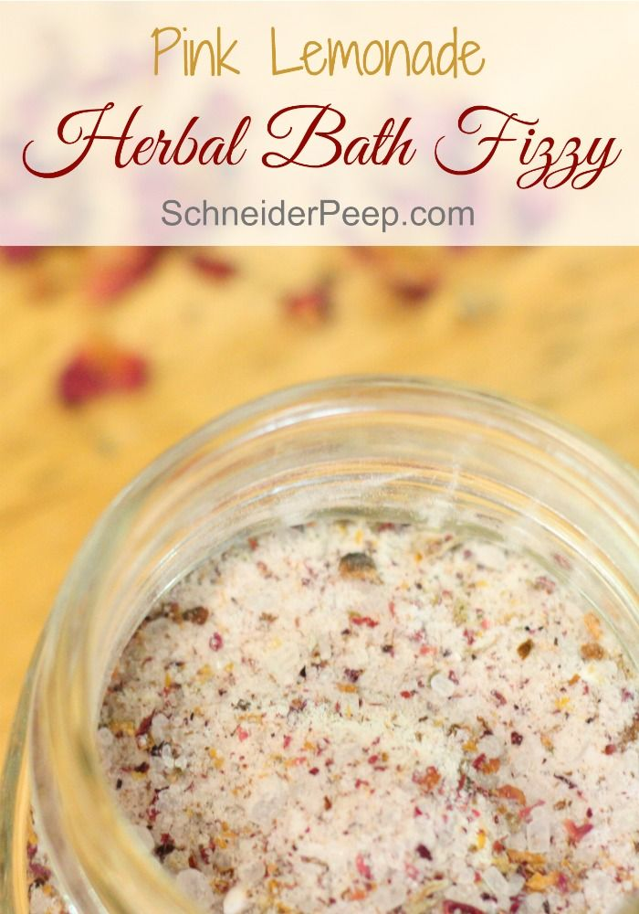 There is nothing quite like a warm bath with soothing herbs and salt in it. Why not add some herbal bath fizzy to take it to the next level. This bath soak is super fun and also makes a great gift!