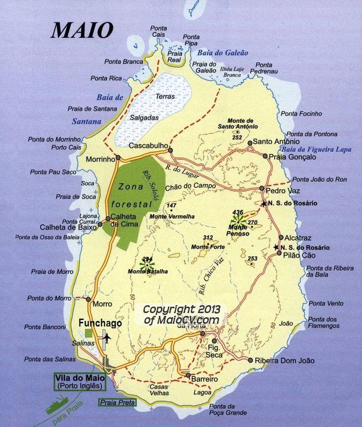 Map of Maio Cape Verde #CapeVerde #TeamFunana #TeamCapeVerdean