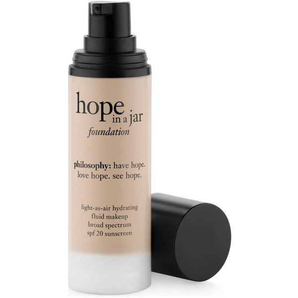 philosophy hope in a jar foundation found on Polyvore