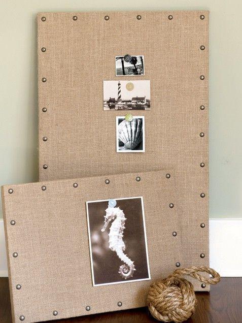 DIY Burlap Message BoardWall Decor, Messages Boards, Pin Boards, Bulletin Boards, Corks Boards, Burlap Messages, Photos Boards, Memo Boards, Diy