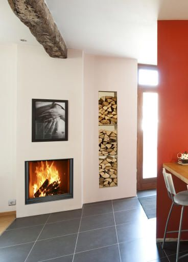 modern log burner fireplaces - Google Search