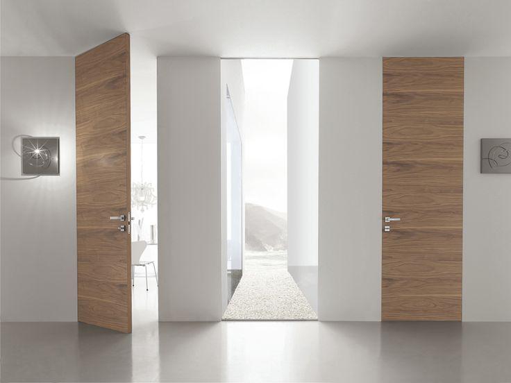 Puerta a ras de pared de madera B-LINE by BLUINTERNI