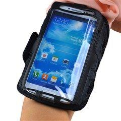 Sports Fitness Mesh Style Armband/Belt for Samsung Galaxy S4 i9500 (Black)
