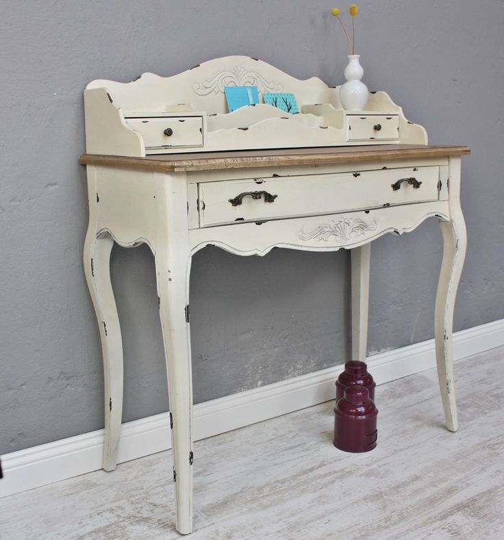 Konsole Sekretar Weiss Braun Antik Landhaus Luxus Neu Beige Massiv Holz Tisch Im Elbmobel Online Shop Home Decor Entryway Tables Furniture