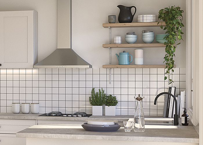 Create Your Own Diy Timber Shelving In Your Kitchen For More Inspiration Visit Kaboodle Com Au Kitchen Design Diy Kaboodle Kitchen Layout