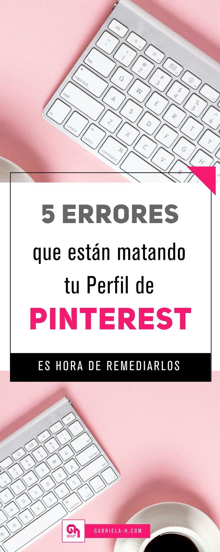 5 Errores que debes evitar al usar Pinterest para tu blog  #pinterestmarketing #pinterestespañol #pinterestespanol #marketingdigital