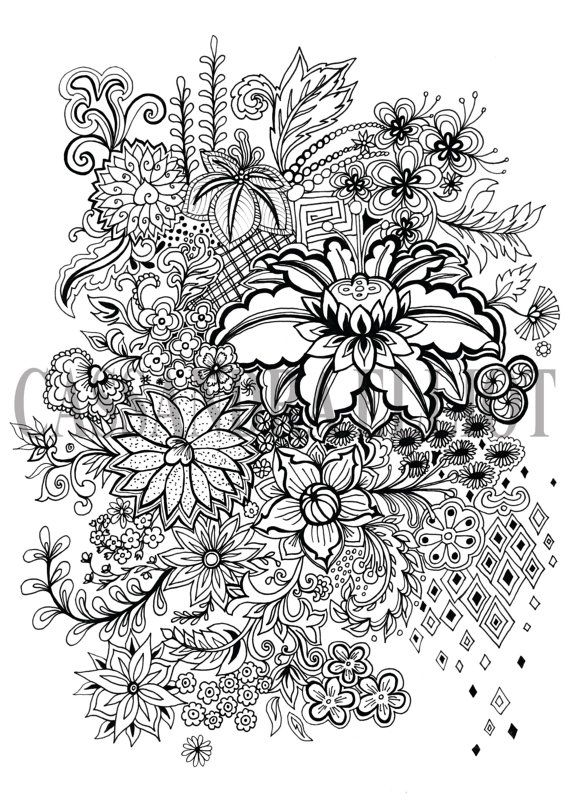 This is from an original pen and ink drawing of mine, inspired by my love of intricate patterns, nature and the simple joy of drawing. There really