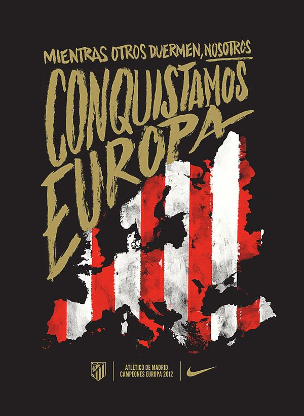 Nike Atletico de Madrid Europa League 2012 by Vasava , via Behance