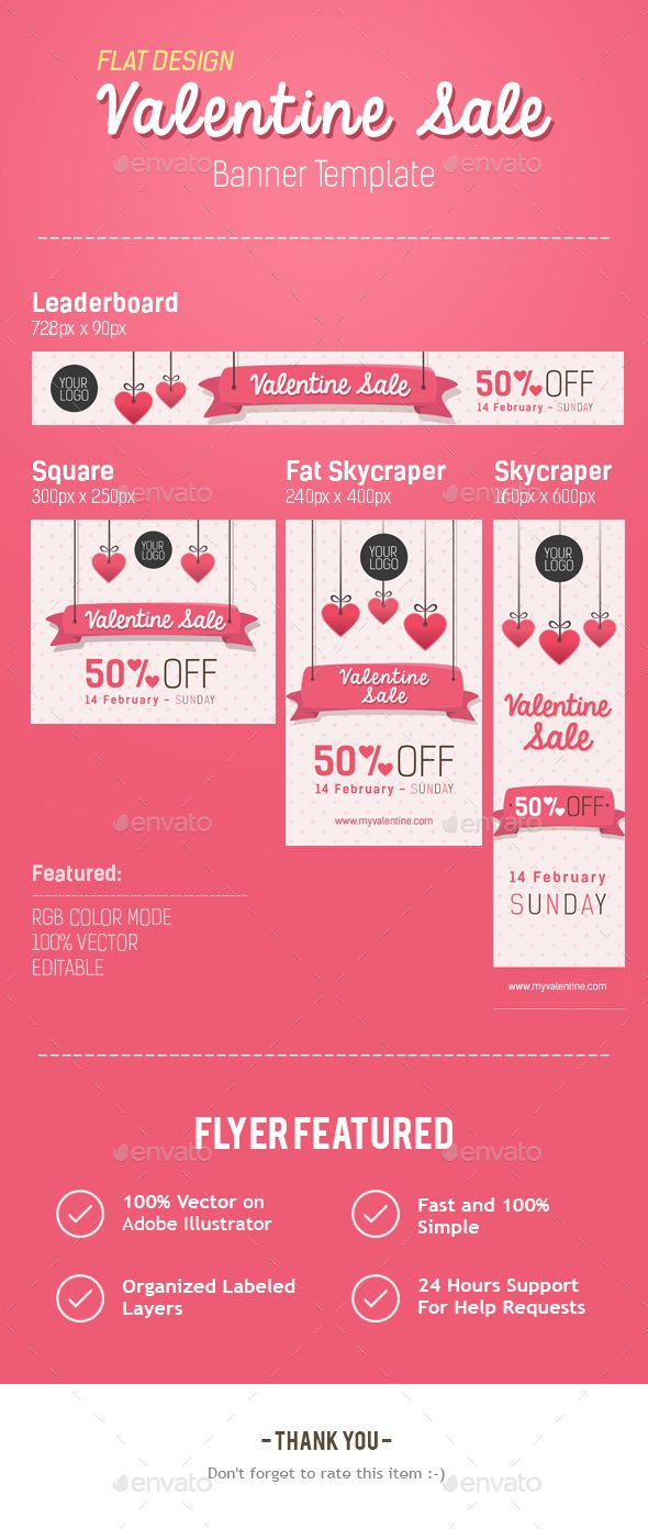 Happy Valentine Banner — AI Illustrator #discount #romantic • Available here → https://graphicriver.net/item/happy-valentine-banner/14399917?ref=pxcr