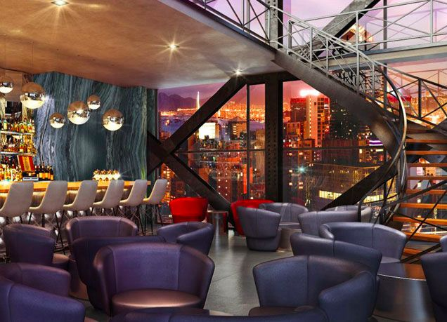 The Artezen Hotel Is Home To Studio A Two Story Glass Encased