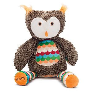 Olympia the Owl Scentsy Buddy -  The owl is out of the tree! Olympia the Owl features in Scentsy's Holiday Collection, bringing a colourful and retro touch to any child's room.