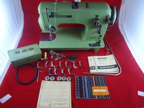 Vintage Bernina 540 Favorit Máquina De Coser Con Accesorios Y Manuales in Artesanías, Costura, Máquinas de coser y sobreorillado | eBay