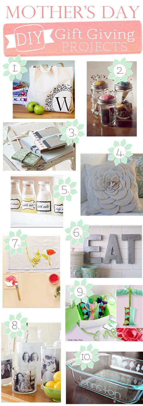 DIY Projects that would be  perfect as gifts on Mother's Day