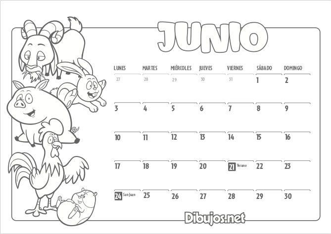 Calendario Infantil 2019 Para Imprimir Y Colorear Dibujos Net Calendario Infantil Imprimir Sobres Calendario