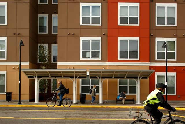 13th and Olive - Not only is the bus station across the street.. but there are stops RIGHT out front our building!! This Luxury student housing in the heart of downtown Eugene! Call today to schedule your tour 541.685.1300