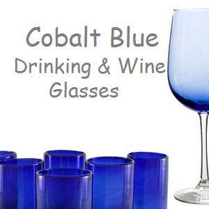 Great site for cobalt blue wine glasses and drinking glasses.  #tbttcobaltbluewineglasses