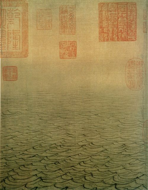 """Yama-bato: """"Southern Song dynasty painting by Ma Yuan the water map there are 12 segments Except first paragraph due to torn half the site and no name outside face, respectively Remaining FIG name is."""" hole Chamber wind fine """","""" layer wave stacks waves """","""" cold Tong Qing shallow """","""" Yangtze River spacious """","""" yellow countercurrent """","""" grievance echo """","""" sea rock """","""" Lake ripple """","""" cloud Shu volume waves """","""" Xiao baking day mountain """" , and """"fine drift waves."""" This 12 piece Free dedicated to…"""