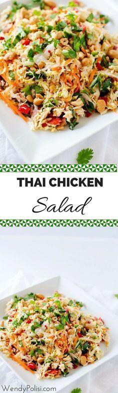 hai Hühnersalat mit Ingwer-Limetten-Dressing – Dieses gesunde Salatrezept ist ….   – Food: S A L A D S