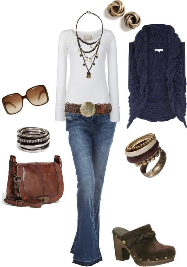 """Blue Woods"" by naira-aponi on Polyvore: Shoes, Clogs, Casual Outfit, Fashion Style, Fall Wins, Blue Woods, Fall Outfit, Casual Looks, Sweaters Vest"