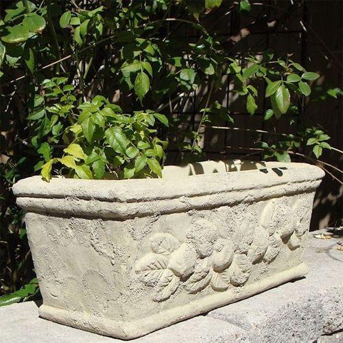 Concrete Distressed Fruit Trough Large Garden Planters Garden Pottery Window Box Garden