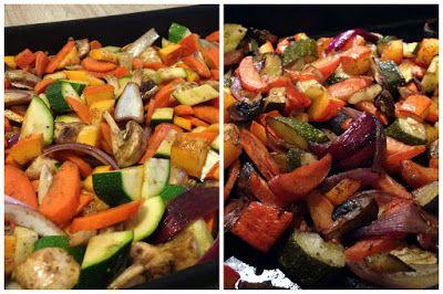 Pečená zelenina - perfektné riešenie na ľahký obed/večeru