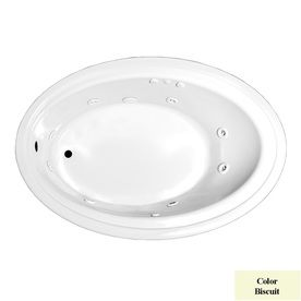 Laurel Mountain Kirby Biscuit Acrylic Oval Whirlpool Tub (Common: 41-in x 60