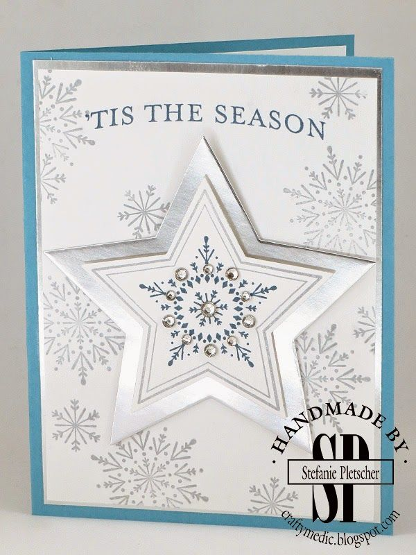The Crafty Medic: Water Cooler Challenge : Color Challenge - Many Merry Stars stamp set from the 2014 Holiday Supplement.