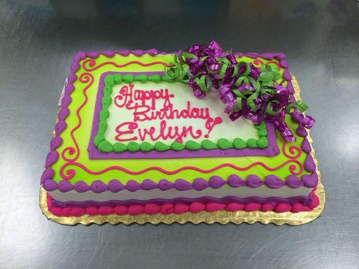Birthday Sheet Cake by Stephanie Dillon, LS1 Hy-Vee