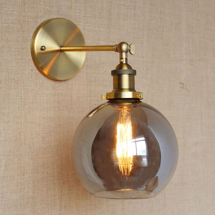 rh american country vintage wall lamp lights fixtures glass ball retro loft industrial wall sconces wandlamp