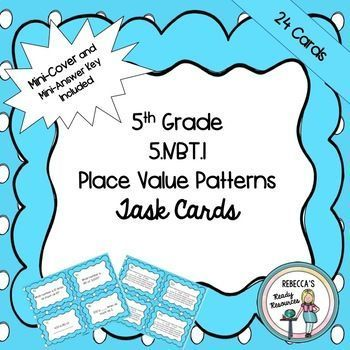 60th Grade 60NBT60 Place Value Patterns Homeschool Printables Impressive Place Value And Patterns