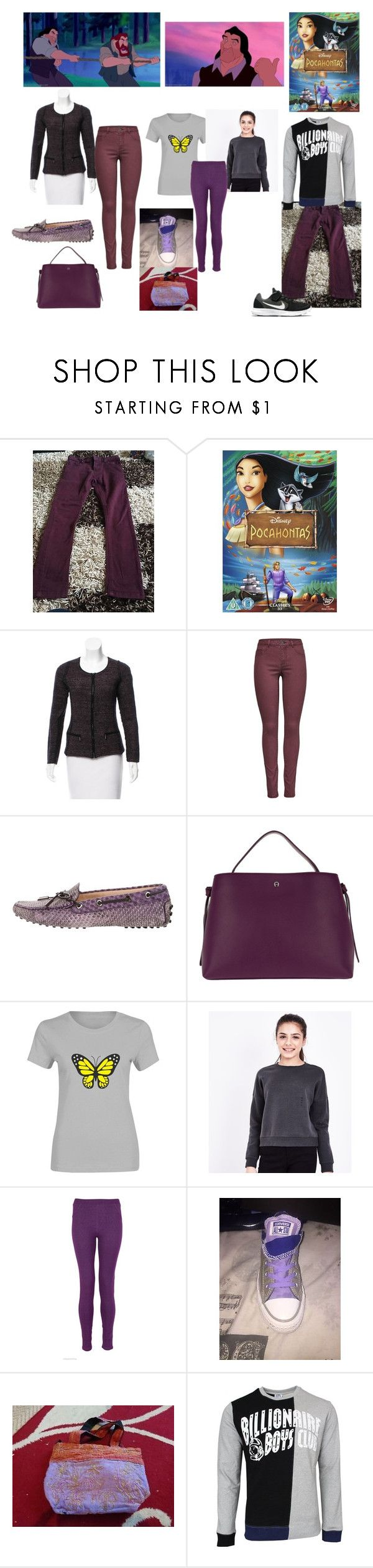 """""""Ben from 'Pocahontas' for me, my niece and nephew"""" by sarah-m-smith ❤ liked on Polyvore featuring Akris Punto, JDY, Tod's, Etienne Aigner, New Look and NIKE"""