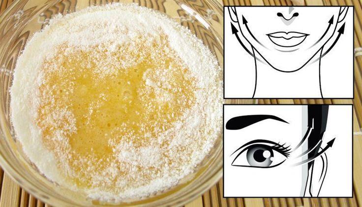 Clara de ovo e amido de milho no rosto: mistura