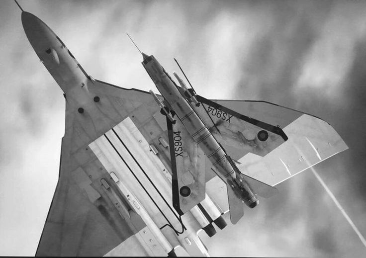 Fly Pass. Vulcan and Lightning
