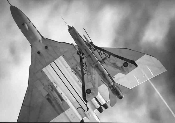 Fly Pass. Vulcan and Lightning