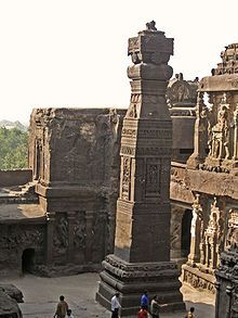 Kailasa‬ Temple, located in ‪#‎Ellora‬, ‪#‎India‬ -- hand-carved from solid rock in 760 AD.