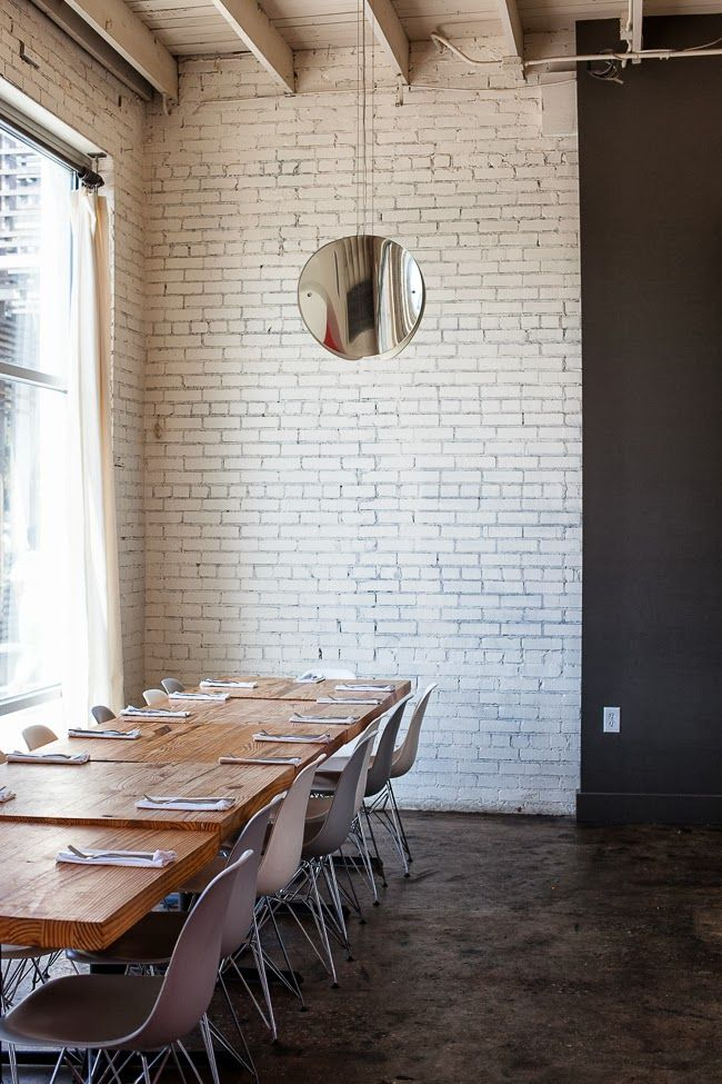 Bocado | Atlanta, GA /: White Brick Wall, Interiors Design Offices, Chairs, Atlanta Georgia, Bocado Interiors, Exposed Brick, Expo Brick, Blog Jchongstudio Com, Paintings Brick Wall