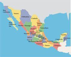 República Mexicana: mapa de los estados mexicanos | México La Red