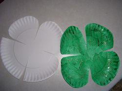 paper plate shamrock