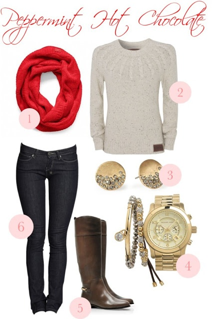 Winter Outfit - I would replace the red scarf with the blue one I already have. :)