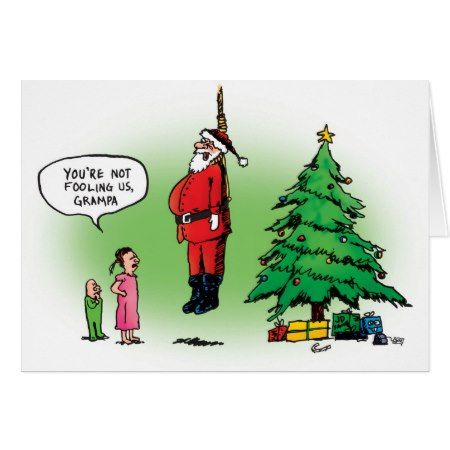 Well Hung Santa Scares the Kids Xmas Card - click to get yours right now!