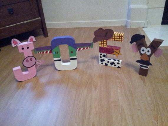 Toy Story Paper Mache Character Letters Will S Room