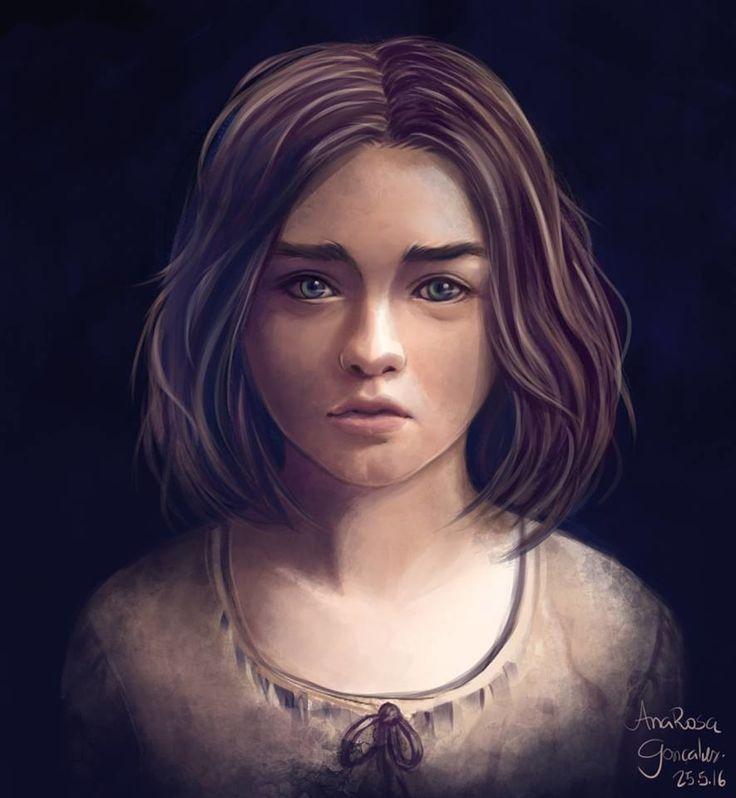 Arya Stark, Ana Rosa Gonçalves on ArtStation at https://www.artstation.com/artwork/994QO