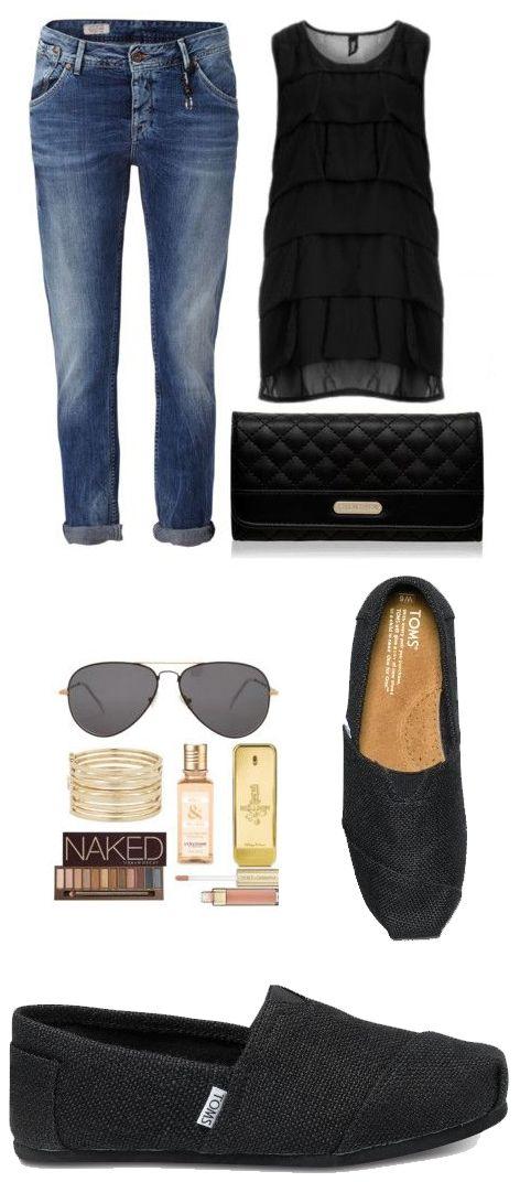 Toms Women's Classics Burlap Black Shoes