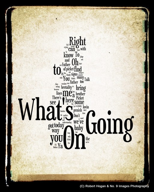 What's Going On Lyrics  Marvin Gaye Word Art  Word by no9images