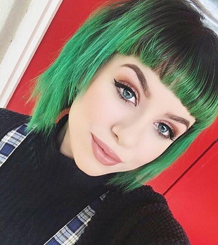 Best Short Green Hair Ideas On Pinterest Green Hair Emerald - Green trends change of hairstyle