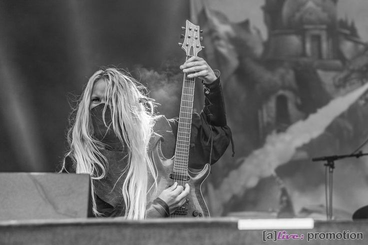 Aerendir Photo by Sandra Hofmann Rockharz 2016 #TwilightForce #music #metal #concert #gig #musician #guitar #guitarist #elf #ninja #mask #Aerendir #festival #photo #fantasy #cosplay #larp #man #Sweden #Swedish #Rockharz