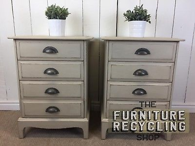 Pair of Cream Painted Bedside Tables. Traditional, Tall Bedsides, Solid Wood. The Furniture Recycling Shop, Bourne End.PaymentShippingReturn PolicyWhere to Find Our ShopAbout UsWhere to Find Our ShopAddress: The Furniture Recycling Shop, 1A Station Road, Bourne End, Buckinghamshire SL8 5QE  The Furniture Recycling Shop is located opposite Bourne End Rail Station. There is on-site car parking with additional pay and display car parking next to the train station. If you have any problems…