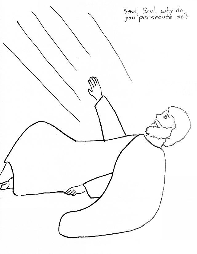 paul on the road to damascus coloring page  28 images  coloriage